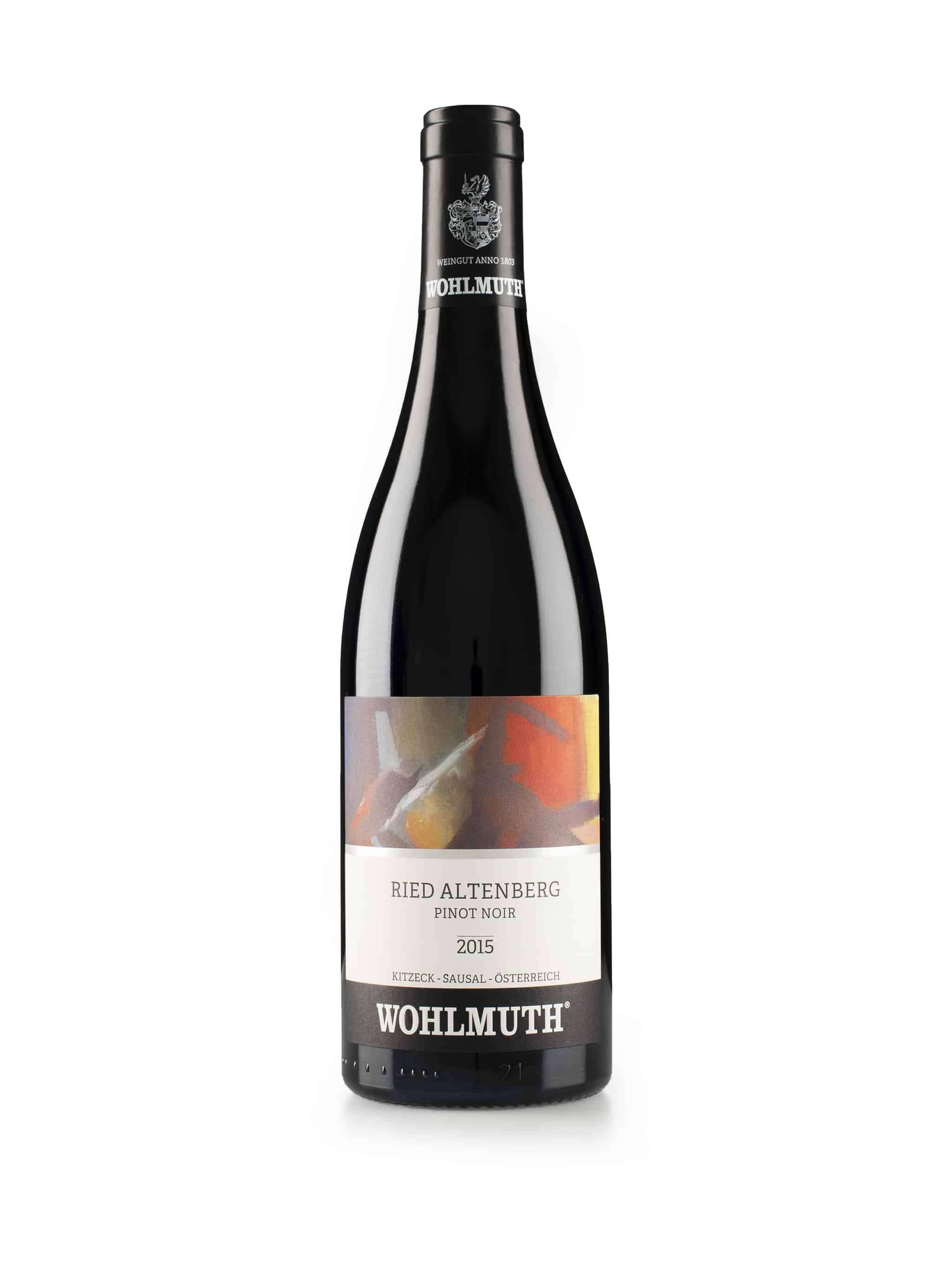 Oostenrijkse rode wijn van wijndomein Wohlmuth: Pinot Noir 'Altenberg'
