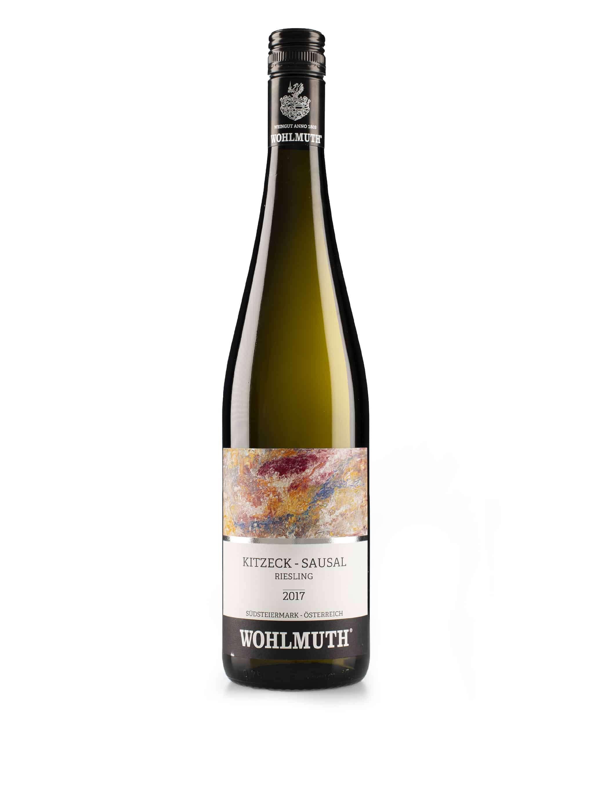Oostenrijkse witte wijn van wijndomein Wohlmuth: Riesling 'Kitzeck'