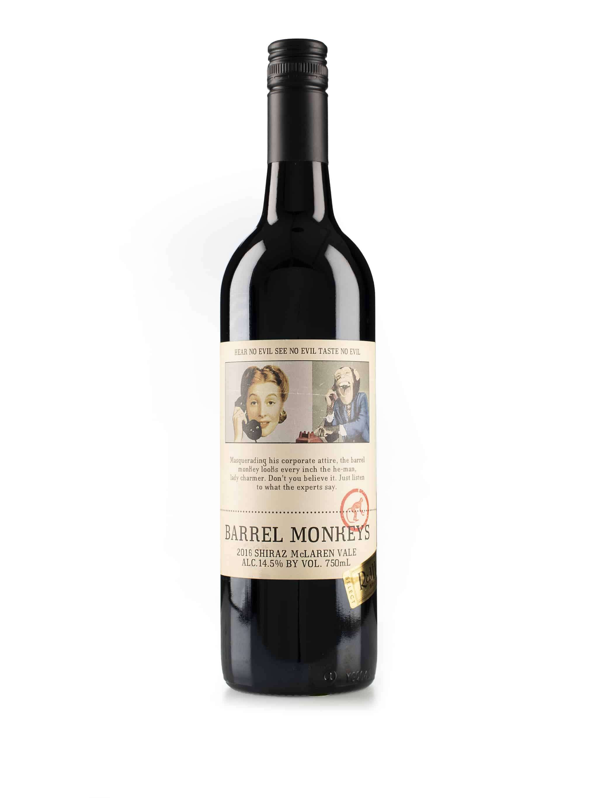 """Australische rode wijn van wijndomein Redheads: Shiraz """"Barrell Monkey's"""""""