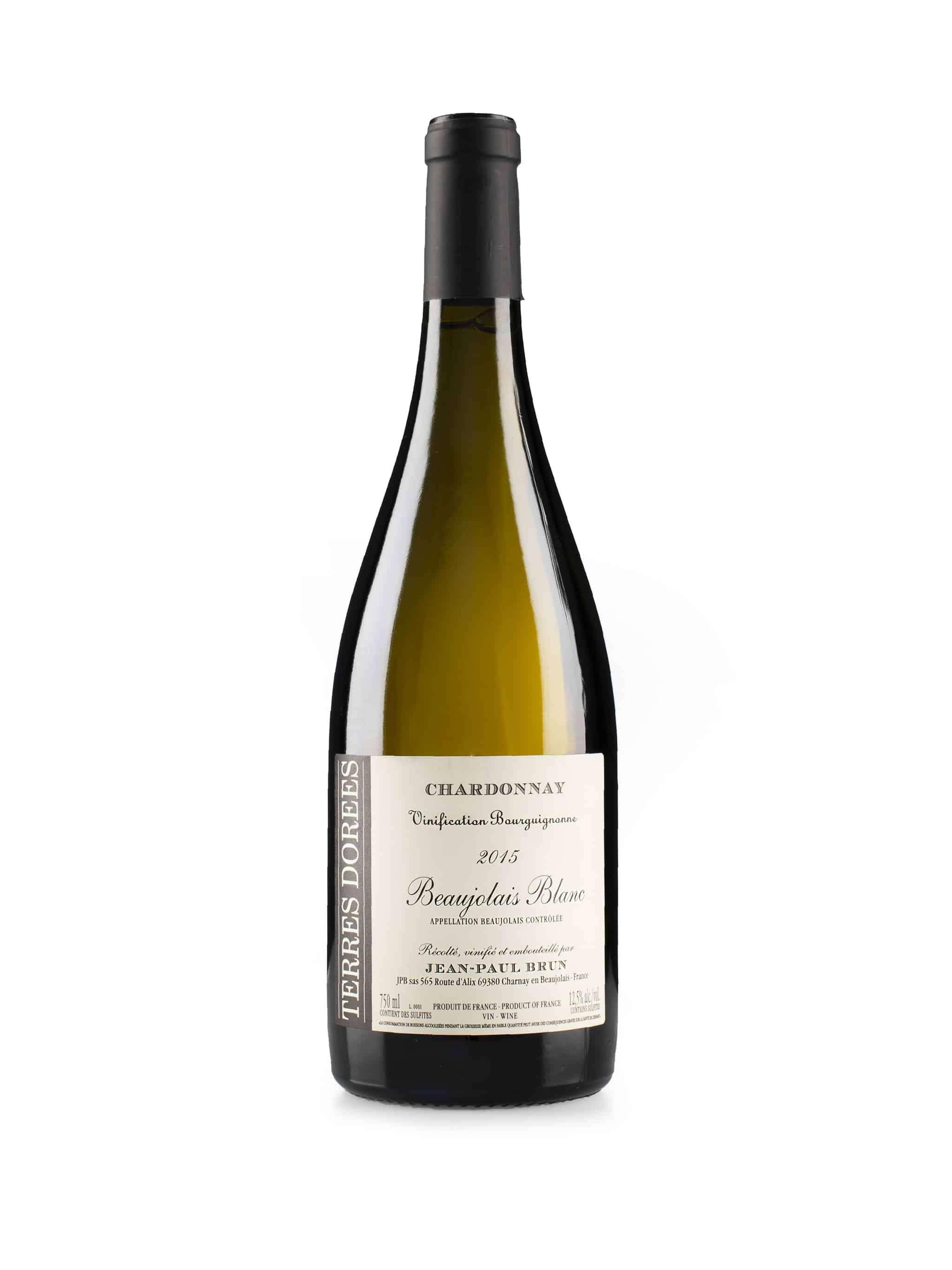 Franse witte wijn van wijndomein Domaine des Terres Dorées: Beaujolais Blanc