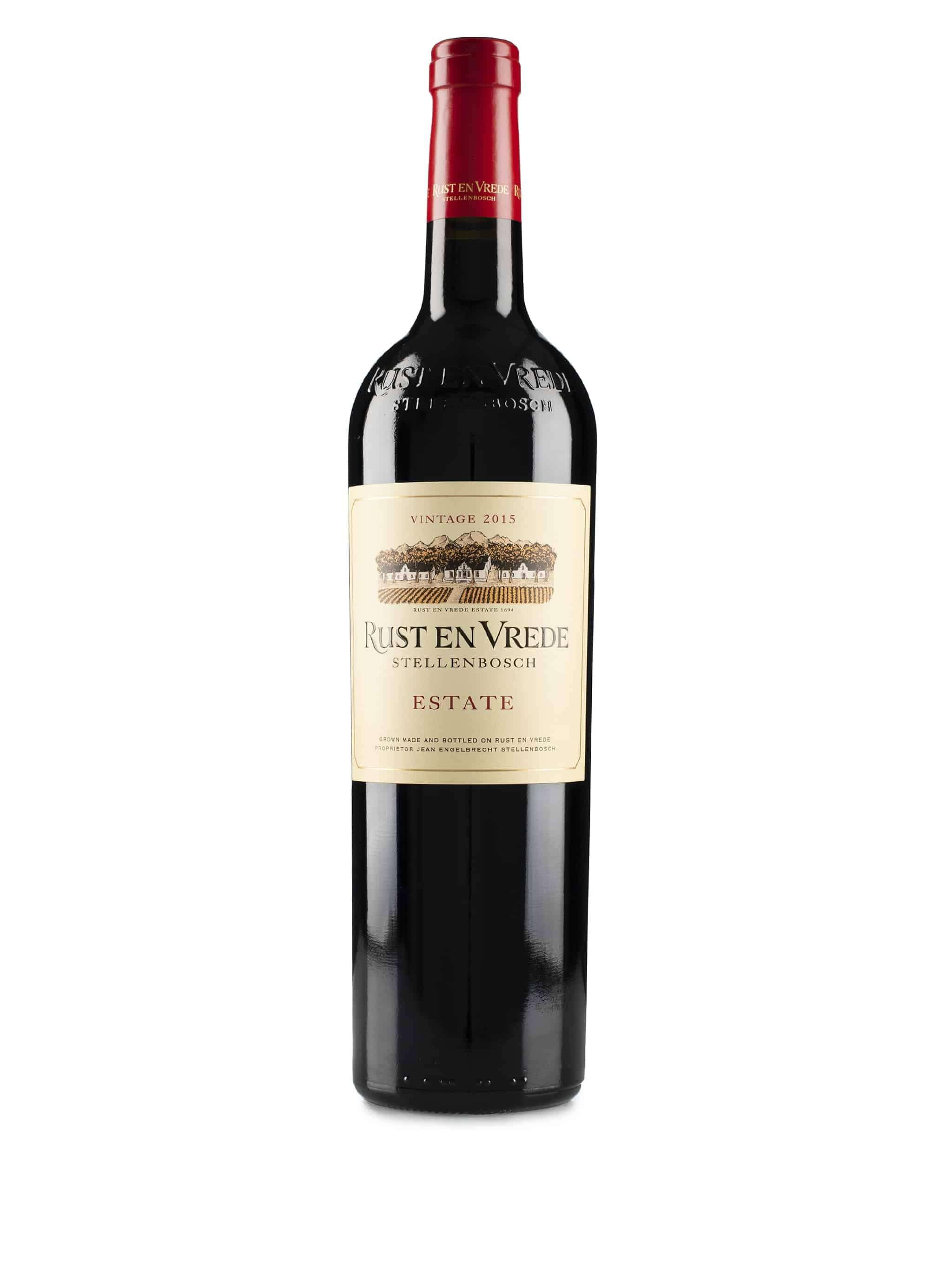 Zuid-Afrikaanse rode wijn van wijndomein Rust en Vrede: Estate Wine