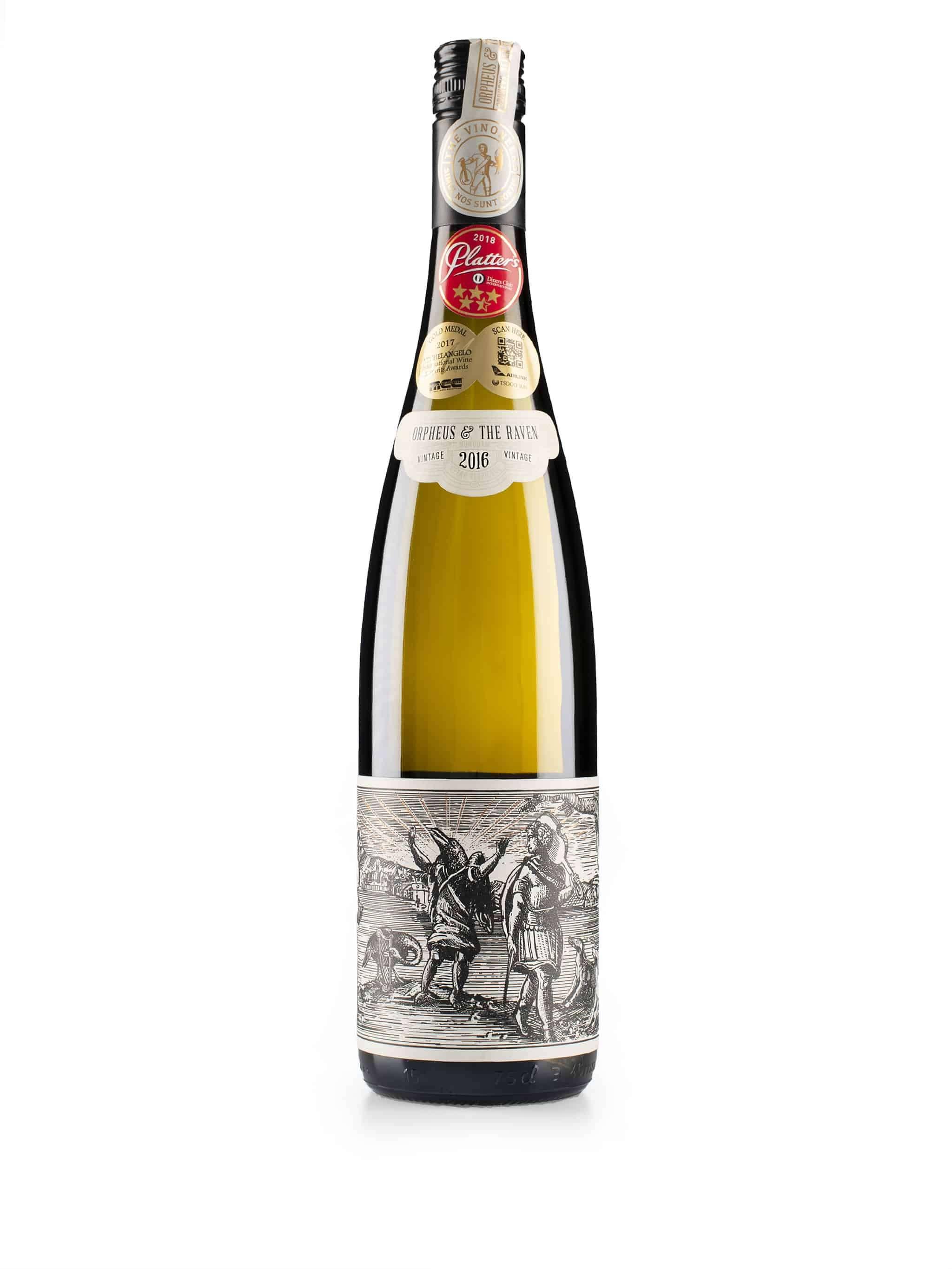 Zuid-Afrikaanse witte wijn van wijndomein Orpheus and The Raven: Gewurztraminer
