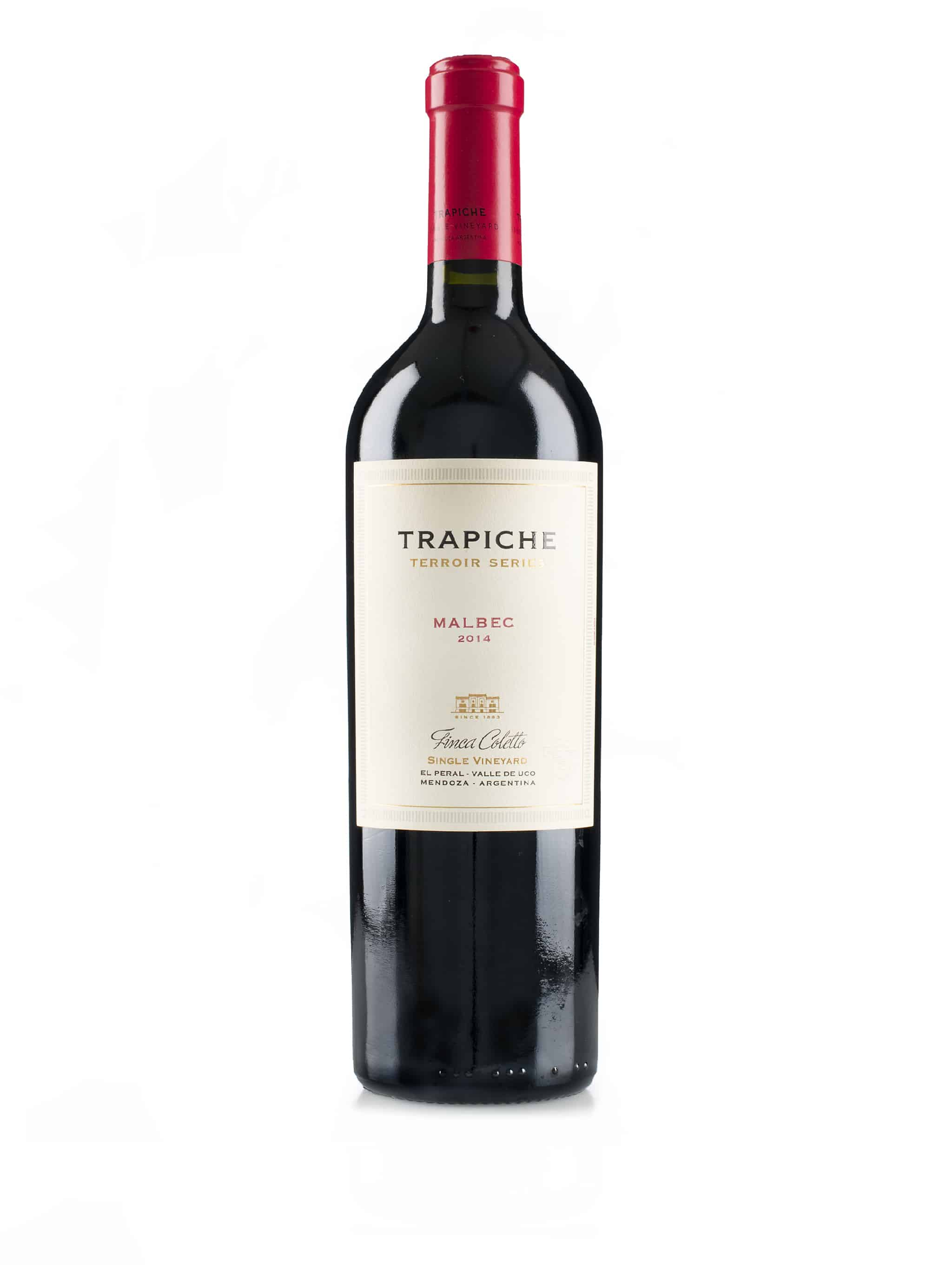 Argentijnse rode wijn van het wijndomein Trapiche: Malbec 'Single Vineyard Finca Coletta'